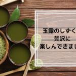八女茶伝統本玉露しずく茶が飲める茶の文化館に行ってきました
